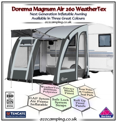 2018 Dorema Magnum Air 260 Inflatable Awning