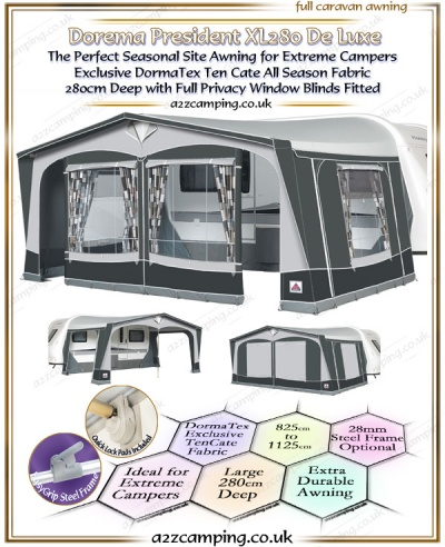 2019 Dorema President XL280 All Season Awning