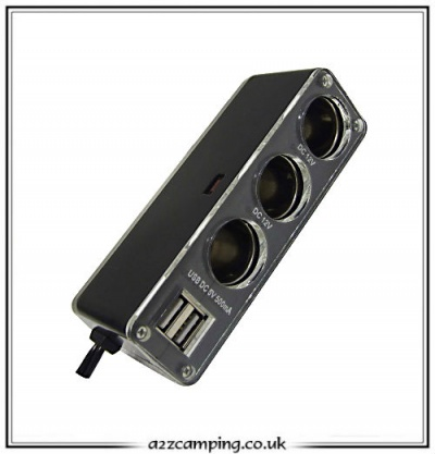 3 in 1 12 volt Power Socket with USB Adaptors