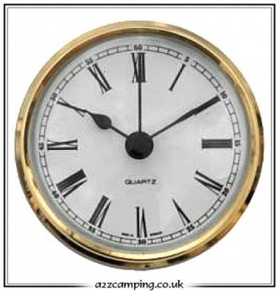 72mm Round Battery Operated Caravan Clock