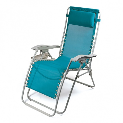 Kampa Opulence Adriatic Relaxer Tealicious Reclining Chair