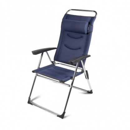 Kampa Milano Lusso Aluminium Reclining Chair - Steel Blue