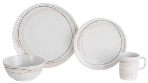 Flamefield Cappuccino 16 Piece 100% Melamine Dinner Set