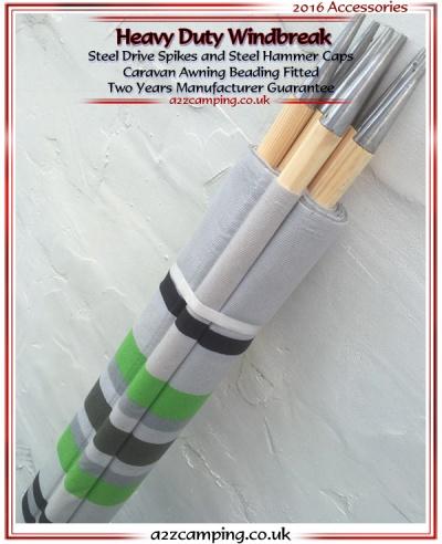 Outdoor Revolution 9 Pole Fabric Windbreak 24ft 7 3m