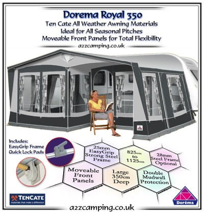 Dorema Royal 350 De Luxe Additional Half Front Panel | 2020
