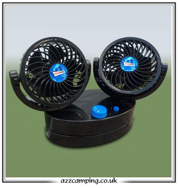 Oscillating 12v Car Caravan Motorhome Fan