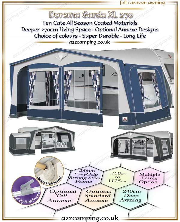 2018 Dorema Garda XL 270 All Season Awning