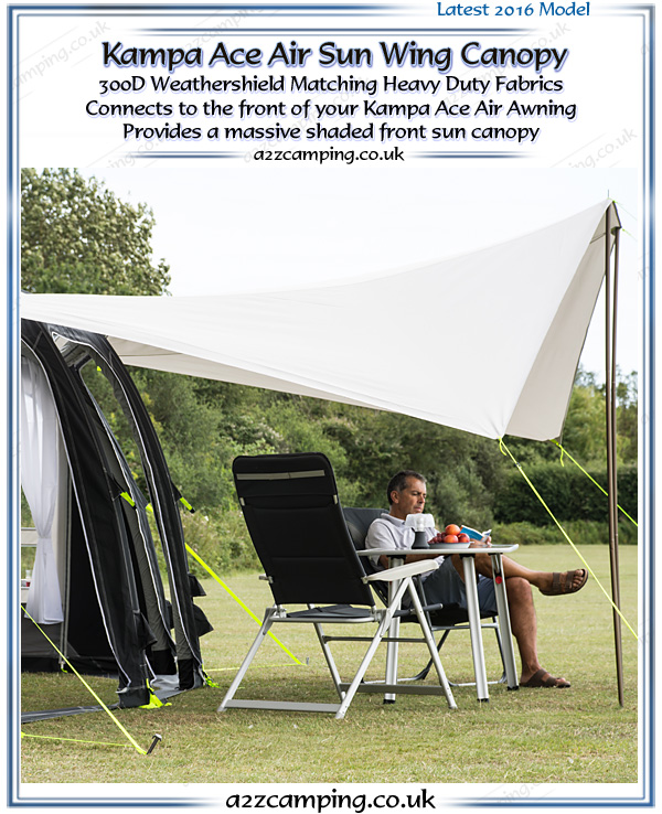 Kampa Rally Ace Air Pro 300 Inflatable Awning 2018
