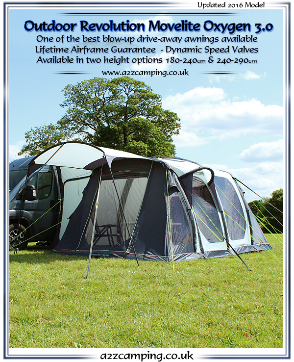 2016 Movelite Oxygen 30 Inflatable Drive Away Motorhome Awning