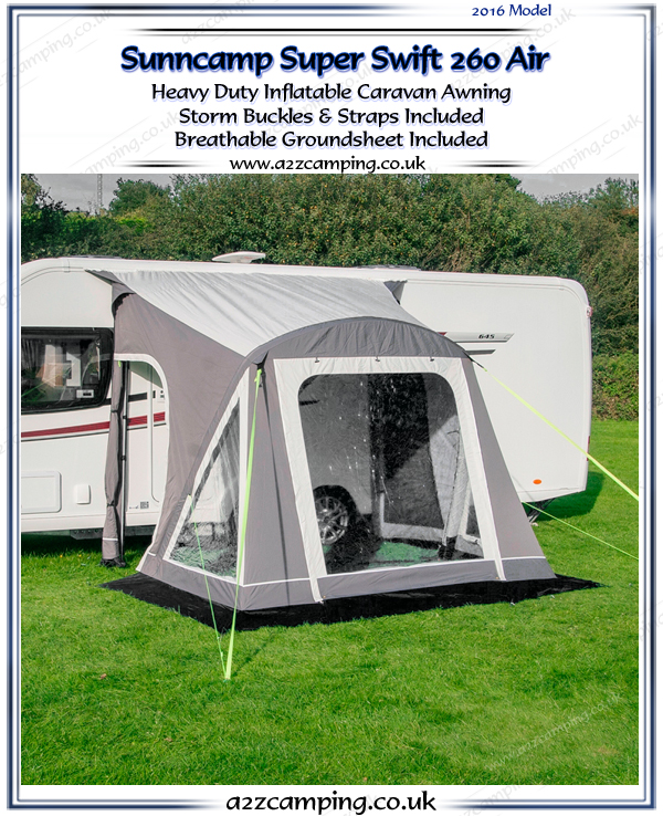 2016 Sunncamp Super Swift 260 Air Heavy Duty Inflatable Awning