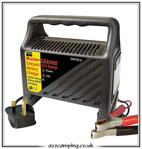 4 And 6 Amp Caravan Leisure Battery Charger
