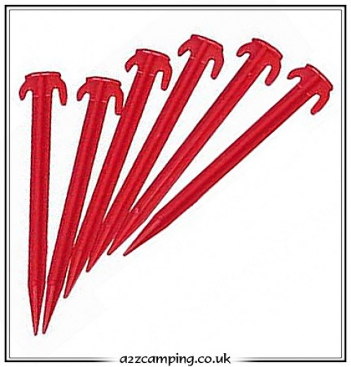 8u0027u0027 Red Plastic Tent Pegs  sc 1 st  a2zc&ing & 8 inch Red Plastic Tent Pegs