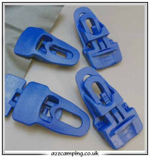Instant Reusable Eyelets Pack of 4 Kampa Tarpaulin Clamps