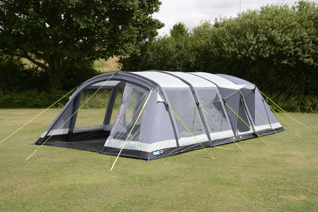 K&a Croyde 6 Air WeatherSheild 150D Inflatable Tent 2018 & Kampa Croyde 6 Air PRO Inflatable Luxury Tent