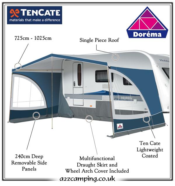 2018 Dorema Panorama Luxury Caravan Sun Canopy  sc 1 st  a2zc&ing & Dorema Panorama Luxury Caravan Sun Canopy