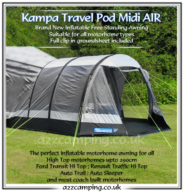 2015 Kampa Travel Pod Midi AIR Inflatable Awning High