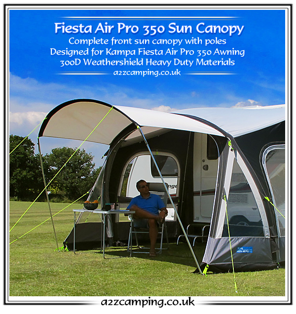 2015 Kampa Fiesta Air Pro 350 Front Extension Canopy