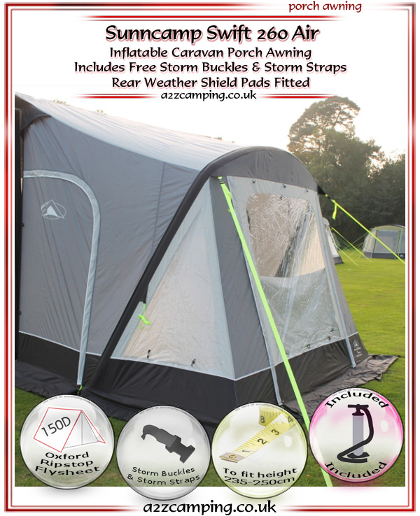 2018 Sunncamp Swift 260 Air Inflatable Porch Awning