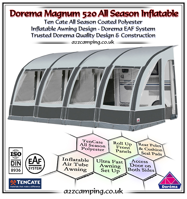 2018 Dorema Magnum Air 520 All Season Inflatable Awning