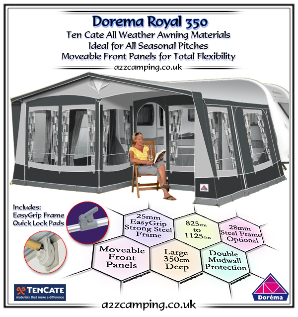 2018 Dorema Royal 350 Additional Half Front Panel