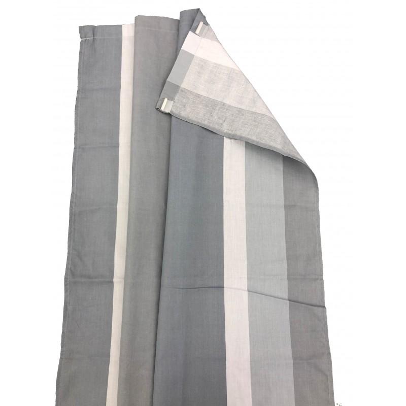 Via Mondo Awning Curtains Grey Set Of 8