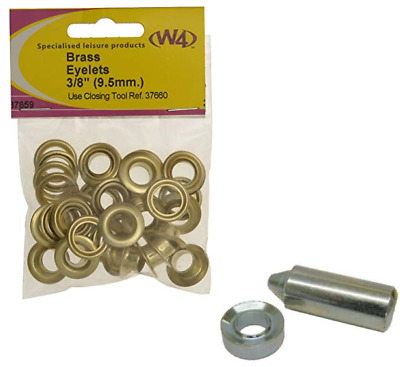 Brass Eyelets & Closing Tool 3/8 (9.5 mm)