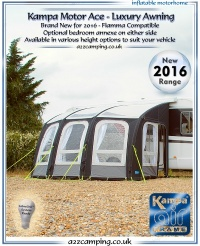 2016 Kampa Motor Ace Air 400 Inflatable Luxury Motorhome Awning