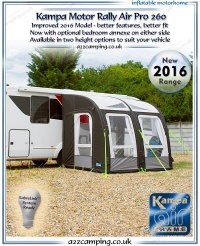 2016 Kampa Motor Rally Air PRO 260 Inflatable Awning (New 2016 Model)