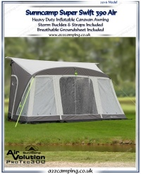2016 Sunncamp Super Swift 390 Air Heavy Duty Inflatable Awning
