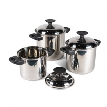 Kampa Space Saver Cook Pan 3 Piece Set