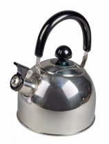 Kampa Polly 2L Stainless Steel Whistling Kettle