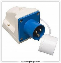 Caravan Mains Surface Inlet with Cover