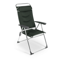 Dometic Lusso Milano Aluminium Reclining Chair - Forest