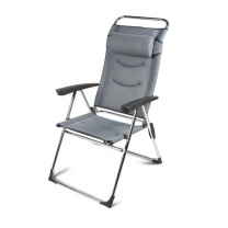 Kampa Milano Lusso Aluminium Reclining Chair - Pebble Grey