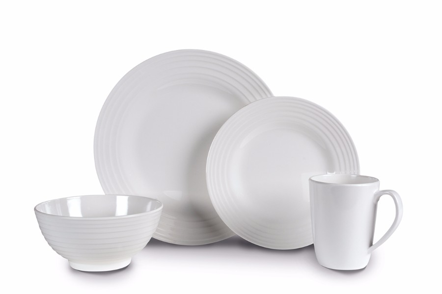 Kampa Blanco 16 Piece Melamine Dinner Set
