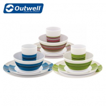 Outwell Blossom Picnic 4 Person Melamine Dinner Set