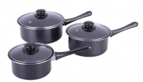 Quest 3 Piece Non Stick Charcoal Pan Set