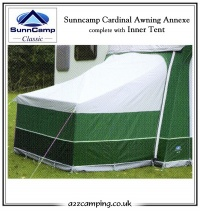 Sunncamp Cardinal Annexe c/w Inner Tent Warehouse Clearance