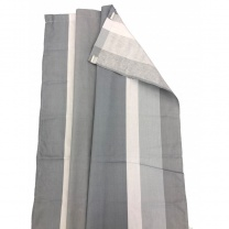 Via Mondo Awning Curtains Grey Set of 8